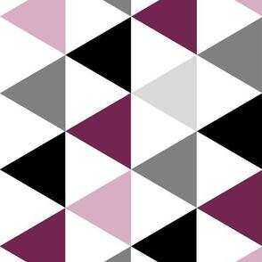 Purple triangle quilt