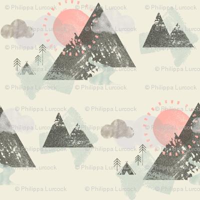 Watercolour Mountain Camp