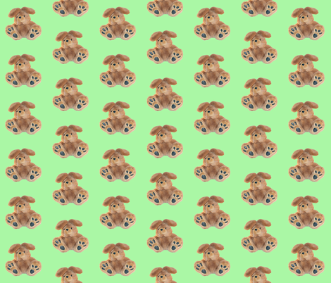 Bunny on Green fabric by nd_ali on Spoonflower - custom fabric