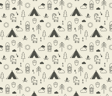 Camp Capricorn Conversation Earth fabric by phirefly_print on Spoonflower - custom fabric
