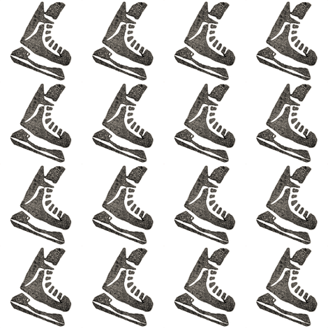 Skates on White fabric by landpenguin on Spoonflower - custom fabric