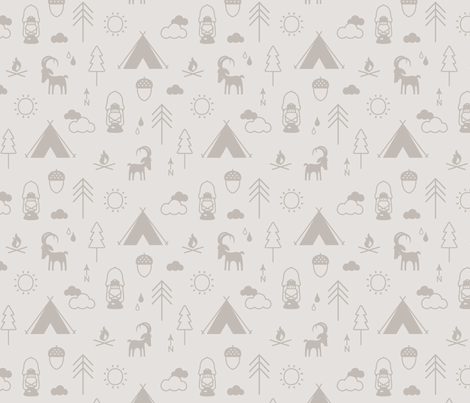 Camp Capricorn Conversation Cloud fabric by phirefly_print on Spoonflower - custom fabric
