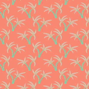 Twin Palms in Coral