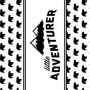 """Little Adventurer Minky Blanket // 54"""" Width // bear"""