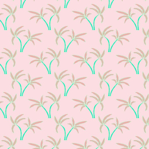 Twin Palms in Pink