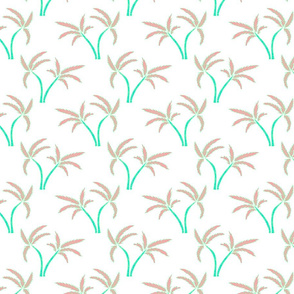 Twin Palms on White