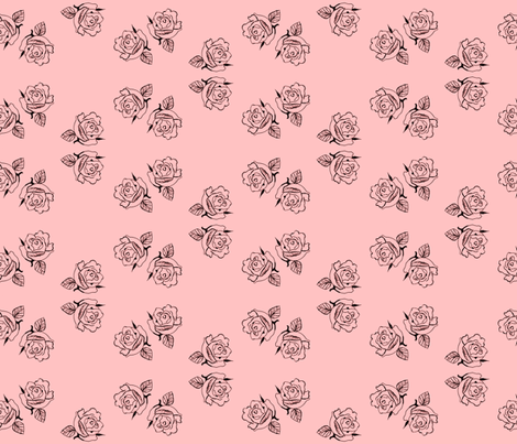 pinkcircledrose fabric by robinrichardsondesigns on Spoonflower - custom fabric
