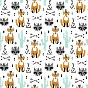 southwest baby animals nursery kids feather foxes tipi teepee arrows cactus kids nursery print