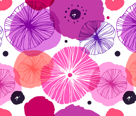 Poppies fabric by silmen on Spoonflower - custom fabric