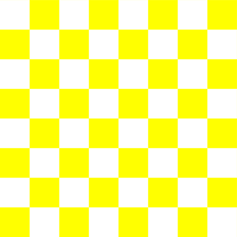 One Inch White and Yellow Checkerboard fabric by mtothefifthpower on Spoonflower - custom fabric