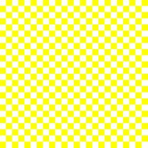 Quarter Inch  White and Yellow Checkerboard