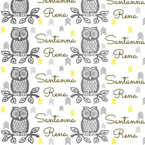 Custom Owl Fabric