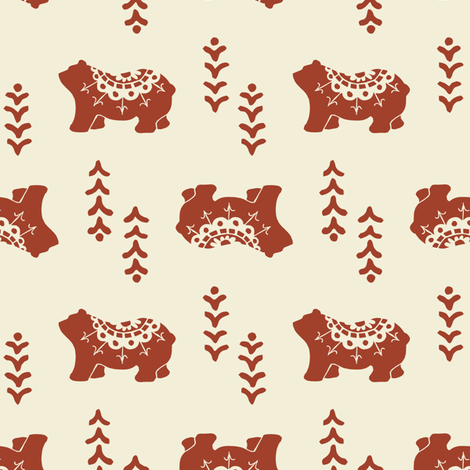Bear Spirit - apple fabric by rochelle_new on Spoonflower - custom fabric