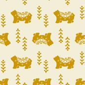 Bear Spirit - mustard