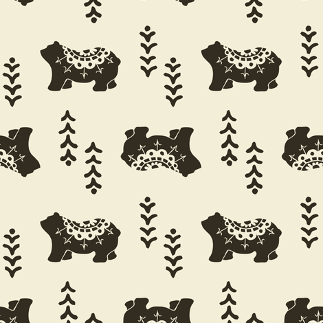 Bear Spirit - pepper fabric by rochelle_new on Spoonflower - custom fabric