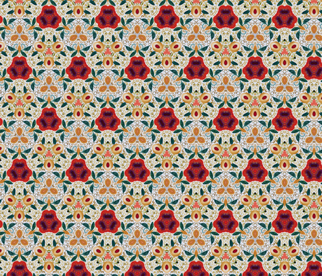 White peaches  fabric by lfntextiles on Spoonflower - custom fabric