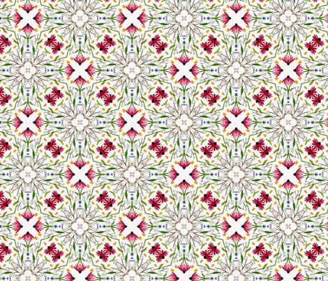 Wildflower garden fabric by lfntextiles on Spoonflower - custom fabric
