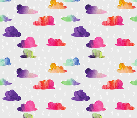 Rainbow Showers  fabric by hey_there_louise on Spoonflower - custom fabric