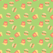 Burgers and Fries Green