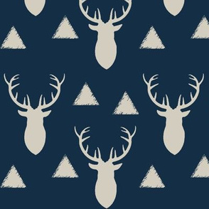 Navy_and_Gray_Deer_Heads_and_Triangles