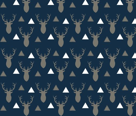 Navy_and_beige_and_white_deer_heads_and_triangles_shop_preview