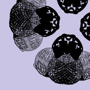Hand-drawn circles turned space capsules