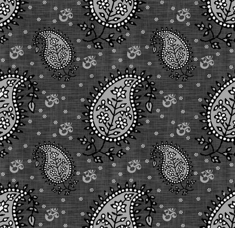 Black Paisley fabric by brainsarepretty on Spoonflower - custom fabric