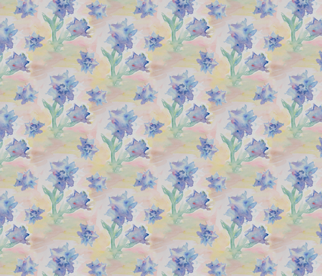 Watercolor Flowers fabric by electrogiraffe on Spoonflower - custom fabric