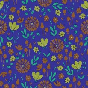 Bold Floral - blue