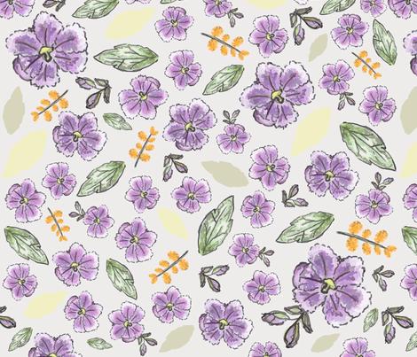 duranta_flower_offWhite fabric by ploizyim on Spoonflower - custom fabric