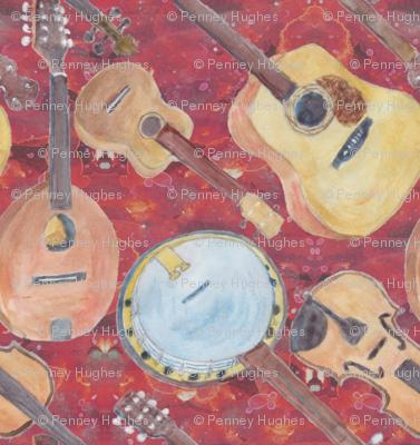 Acoustic Arangement Strings Red