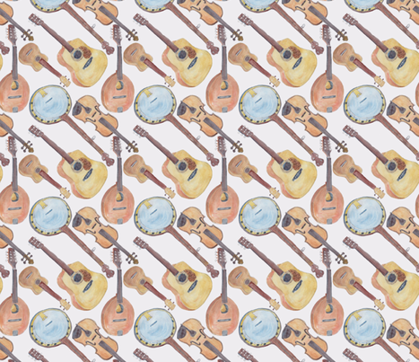 Chorus of Strings Small fabric by bloomingwyldeiris on Spoonflower - custom fabric