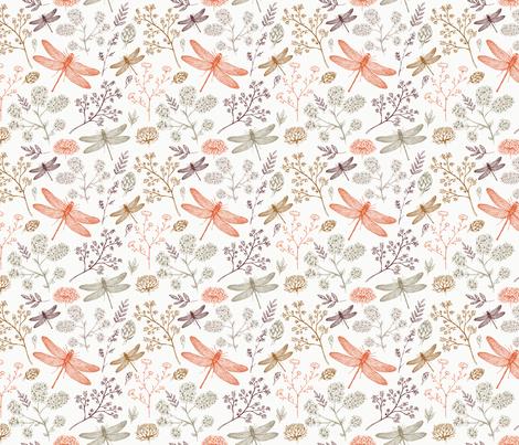Dragonflies fabric by adehoidar on Spoonflower - custom fabric