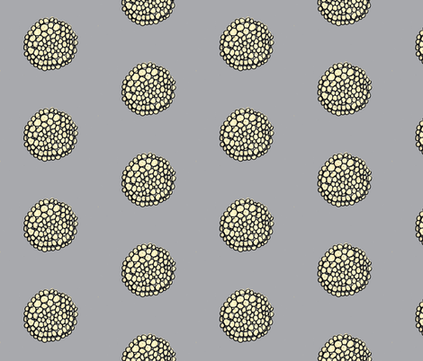 Yellow Button on gray fabric by unclemamma on Spoonflower - custom fabric