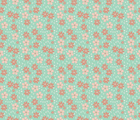 Rgrey_floral_-_mint_coral_shop_preview