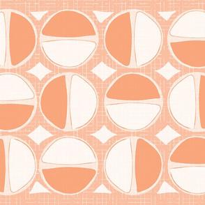 Mod Circles Tea Towel - Orange