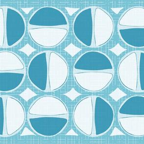 Mod Circles Tea Towel - Blue