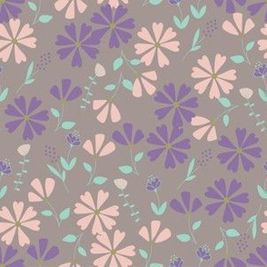 Francesca Floral - lavender and pink