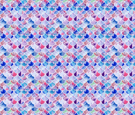 Watercolour Scales fabric by emeryallardsmith on Spoonflower - custom fabric