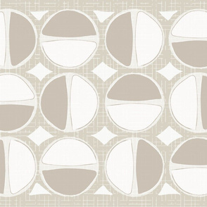 Mod Circles Tea Towel - Neutral