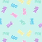 Gummy Bears Gummies Pastel Kawaii Blue