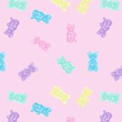 Gummy Bears Gummies Pastel Kawaii Pink