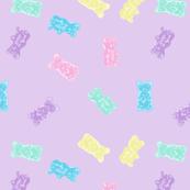 Gummy Bears Gummies Pastel Kawaii Purple