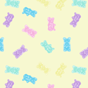 Gummy Bears Gummies Pastel Kawaii Yellow