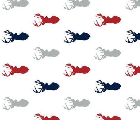 multi buck head (90) // woodgrove collection fabric by littlearrowdesign on Spoonflower - custom fabric