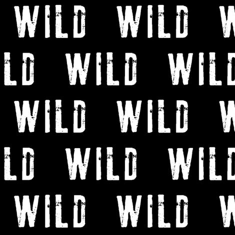 WILD // black fabric by littlearrowdesign on Spoonflower - custom fabric
