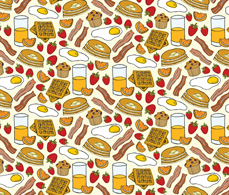 Most Important Meal fabric by lprspr on Spoonflower - custom fabric