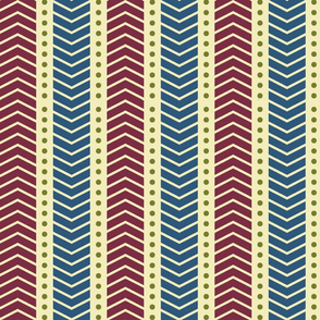 Tribal Chevron Red and Blue