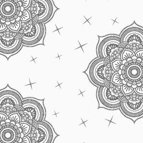 Mandala Boho grey