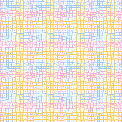 Wavy Grid With Dots: White fabric by tallulahdahling on Spoonflower - custom fabric